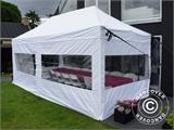Carpa para fiestas, SEMI PRO Plus CombiTents® 5x10m, 3 en 1, Blanco - 30