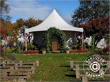 Pagoda Marquee Exclusive 5x5 m PVC, White - 28