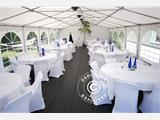 Marquee Exclusive 6x12 m PVC, Grey/White - 1