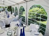 Marquee Exclusive 6x12 m PVC, Grey/White - 8