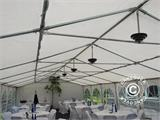 Marquee Exclusive 6x12 m PVC, Grey/White - 9