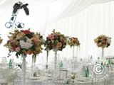 Marquee Exclusive 6x12 m PVC, Grey/White - 14