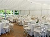 Marquee Exclusive 6x12 m PVC, Grey/White - 17