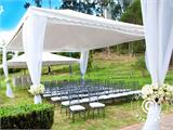 Marquee Exclusive 6x12 m PVC, Grey/White - 24
