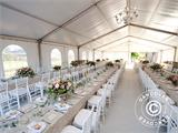 Marquee Exclusive 6x12 m PVC, White, Panorama - 18