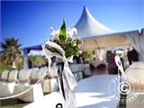 Marquee PLUS 5x10 m PE, White + Ground bar - 20