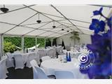 Partytent Exclusive 6x10m PVC, Grijs/Wit - 4
