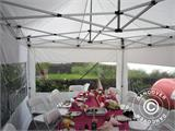 Partytent Exclusive 6x10m PVC, Grijs/Wit - 33
