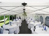 Marquee Original 4x10 m PVC, Grey/White - 5
