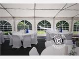 Marquee Original 4x10 m PVC, Grey/White - 7