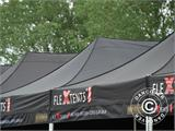 Pop up gazebo FleXtents PRO 3x6 m Black, Flame retardant, incl. 6 sidewalls - 64