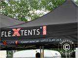 Pop up gazebo FleXtents Steel 4x8 m Black, incl. 10 decorative curtains - 44