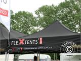 Pop up gazebo FleXtents PRO 3x6 m Black, Flame retardant, incl. 6 sidewalls - 67