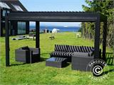 Sidewall screen f/pergola gazebo San Pablo, 4 m, Black - 2