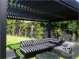 Sidewall screen f/pergola gazebo San Pablo, 4 m, Black - 6