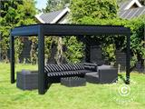 Sidewall screen f/pergola gazebo San Pablo, 4 m, Black - 8