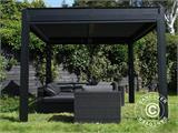Sidewall screen f/pergola gazebo San Pablo, 4 m, Black - 10