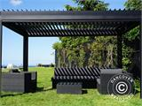 Sidewall screen f/pergola gazebo San Pablo, 4 m, Black - 12
