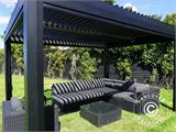 Sidewall screen f/pergola gazebo San Pablo, 4 m, Black - 14