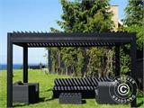 Sidewall screen f/pergola gazebo San Pablo, 4 m, Black - 15