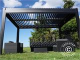 Sidewall screen f/pergola gazebo San Pablo, 4 m, Black - 16
