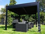 Sidewall screen f/pergola gazebo San Pablo, 4 m, Black - 17