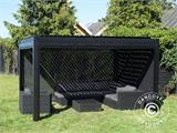 Sidewall screen f/pergola gazebo San Pablo, 4 m, Black - 18