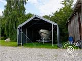 Storage shelter PRO XL 3.5x10x3.3x3.94 m, PVC, Grey - 1