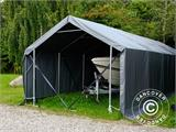 Storage shelter PRO XL 3.5x10x3.3x3.94 m, PVC, Grey - 5