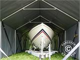 Storage shelter PRO XL 3.5x10x3.3x3.94 m, PVC, Grey - 19