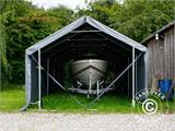 Storage shelter PRO XL 3.5x10x3.3x3.94 m, PVC, Grey - 23