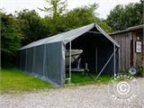 Storage shelter PRO 4x8x2x3.1 m, PVC, Grey - 7