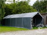 Storage shelter PRO 4x8x2x3.1 m, PVC, Grey - 9