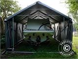 Storage shelter PRO 4x8x2x3.1 m, PVC, Grey - 18