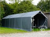 Storage shelter PRO 4x8x2x3.1 m, PVC, Grey - 20
