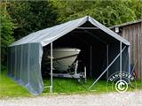 Storage shelter PRO 4x8x2x3.1 m, PVC, Grey - 21