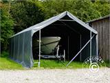 Storage shelter PRO 4x8x2x3.1 m, PVC, Grey - 22