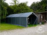 Storage shelter PRO 6x12x3.7 m PVC, Green - 14