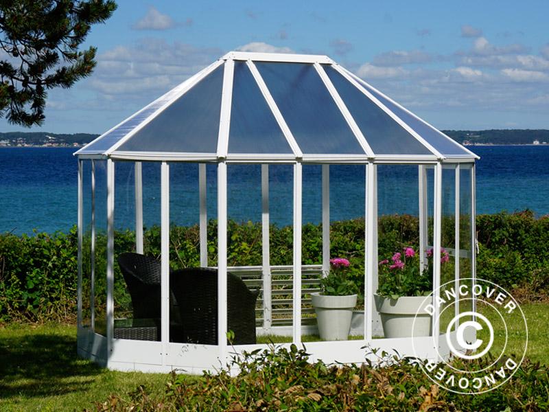 orangerie polycarbonat gew chshaus 2 41x3 3x2 58m wei. Black Bedroom Furniture Sets. Home Design Ideas