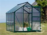 Greenhouse Polycarbonate 3.64m², 1.9x1.92x2.01 m, Green - 4