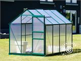 Greenhouse Polycarbonate 3.64m², 1.9x1.92x2.01 m, Green - 7