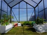 Greenhouse Polycarbonate 3.64m², 1.9x1.92x2.01 m, Green - 15