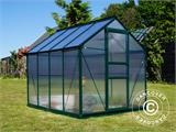 Greenhouse Polycarbonate 3.64m², 1.9x1.92x2.01 m, Green - 20