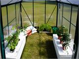 Greenhouse Polycarbonate 3.64m², 1.9x1.92x2.01 m, Green - 22