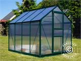 Greenhouse Polycarbonate 3.64m², 1.9x1.92x2.01 m, Green - 24