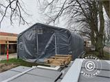Storage shelter PRO 7x7x3.8 m PVC w/ skylight, Grey - 9