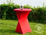 Stretch table cover Ø80x110 cm, Red - 1