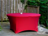 Stretch table cover, Ø152x74 cm, Red - 3