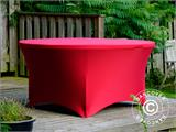 Stretch table cover, Ø152x74 cm, Red - 10