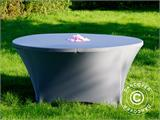 Stretch table cover Ø152x74 cm, Grey - 8